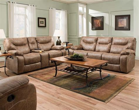 brown leather recliner sofa set recliner set topgun saddle reclining sofa and