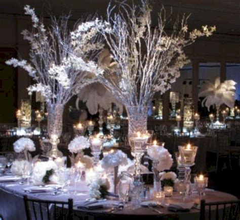 44 Unique Winter Wedding Reception Centerpieces Ideas