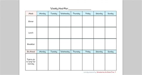 7 day menu planner template 5 best images of 7 day diet chart printable 7 day