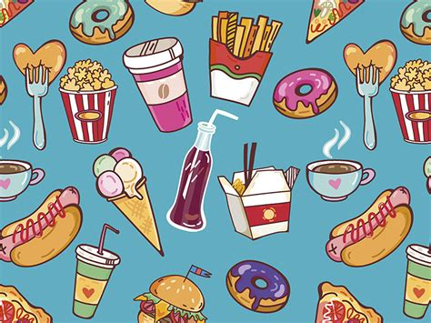 food pattern background tumblr food patterns tumblr pesquisa google junk food