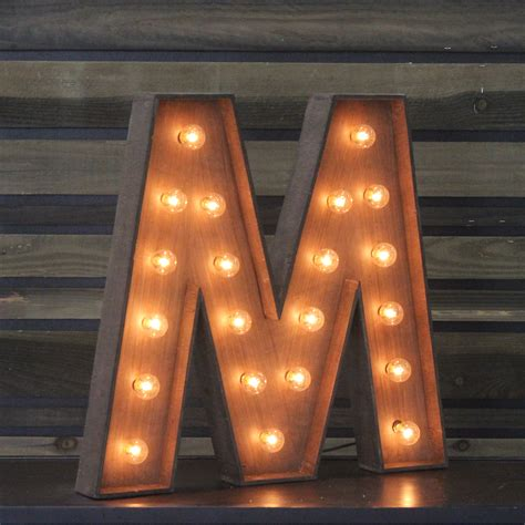 edison marquee letter quot m quot town country event rentals