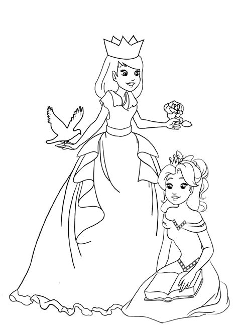 easy princess coloring pages 99 simple princess coloring pages disney princess