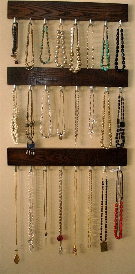 how to make a hanging jewelry organizer hanging modern jewelry organizer coat rack 24 quot solid
