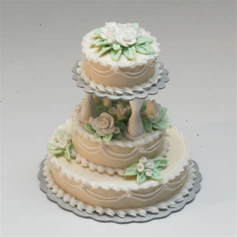 Wedding Cake 3 Tier by 3 Tier Ecru Wedding Cake Stewart Dollhouse Creations