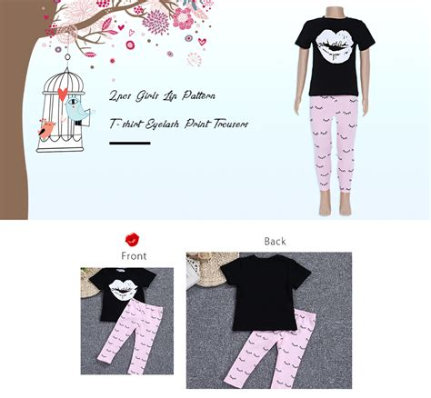 30704 Black Blue Pink Summer Leisure Set S M L Top sosocoer 2pcs lip pattern t shirt eyelash print trousers black and pink 11street
