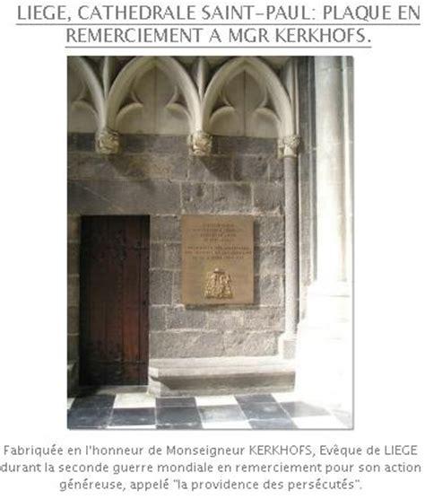 Plaque De Liege 1942 by Monseigneur Kerkhofs
