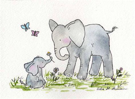 Nursery Decor Elephants Elephant Nursery Print By Jasper And Ruby Contemporary Nursery Decor By Etsy