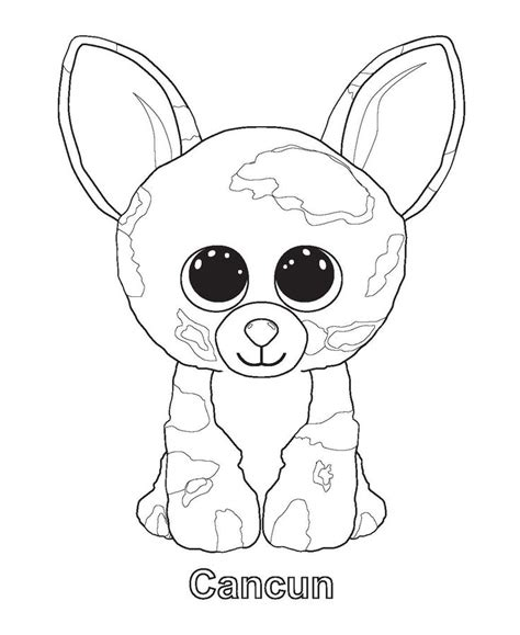 beanie babies coloring page cancun coloring sheets pinterest beanie boos beanie