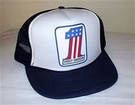 Trucker Hat Jaring Harley Davidson Imbong 1 nos vintage school harley 1 usa logo mesh baseball trucker cap fit hat quot live to ride