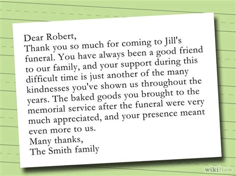 letter of thanks and appreciation after a funeral how to write a thank you note after a funeral with sle notes