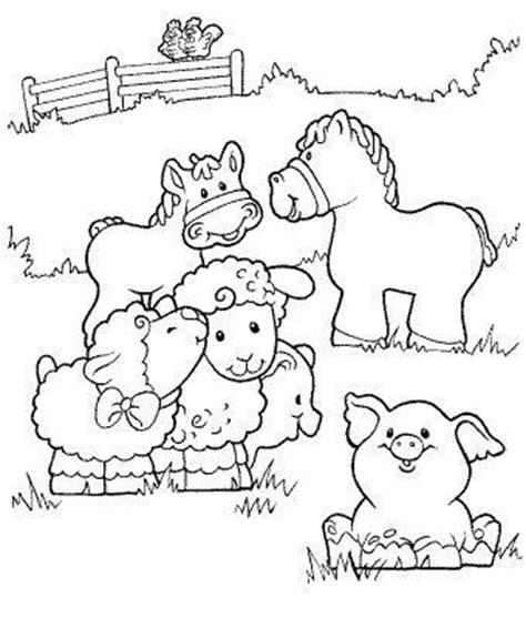 imagenes de animales de granja para colorear dibujos de granjas para colorear