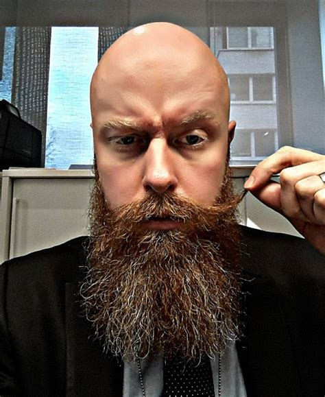 bald actor with white beard shaved head with beard 65 beard styles for bald men