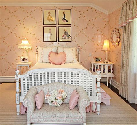 retro girls bedroom antique barbie prints are a great addition to the shabby