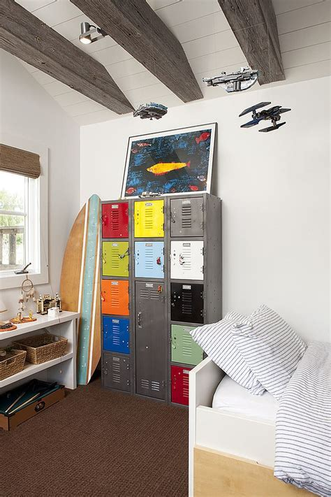 boys room storage 30 trendy ways to add color to the contemporary kids bedroom