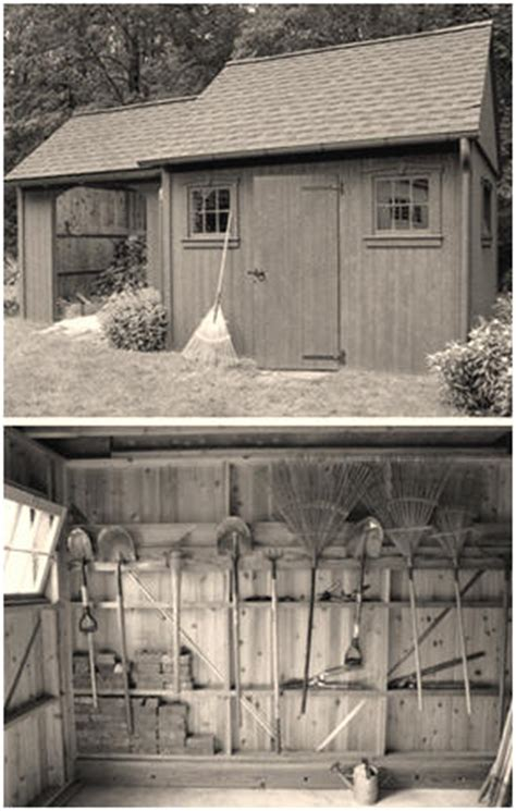 Mechanic Shed by Colonial Style Two In One Shed Plans