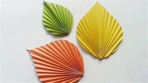 Paper Leaves - how to create shaped paper leaves diy crafts