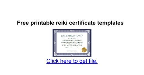 certificate templates for google docs free printable reiki certificate templates google docs