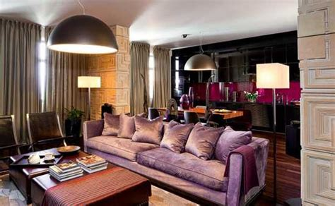 purple and brown living room modern interior colors brown and purple hair purple and