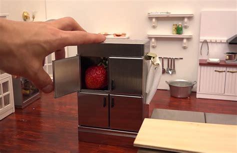 tiny kitchen bakes tiny cake using tiny tools in a tiny kitchen
