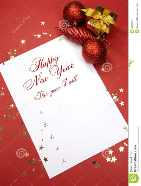 happy  year resolutions writing  notepad paper stock photo image