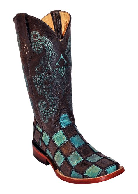 Patchwork Boots Womens - pungo ridge ferrini patchwork western boots