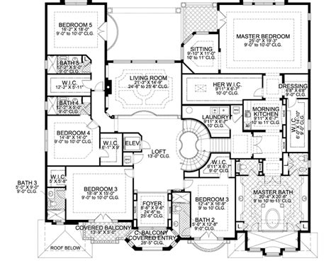 7 bedroom house floor plans florida style house plans 7883 square foot home 2