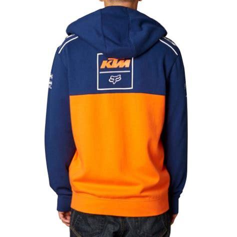 Hoodie Zipper Ktm Racing fox racing mens ktm replica front fleece hoody zip sweatshirt navy orange small apparel in