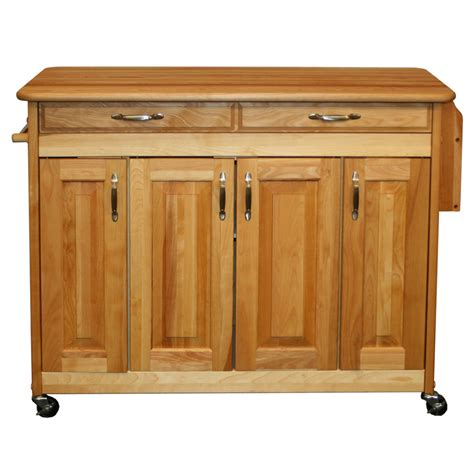 catskill butcher block kitchen island w spice rack