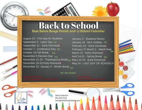 East Baton Parish School Calendar Back To School For East Baton Of Home Selling