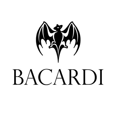 bacardi logo white bacardi on pantone canvas gallery