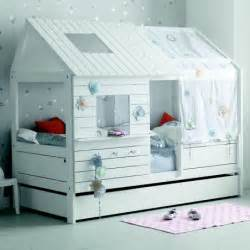 lit cabane 90x200 blanc