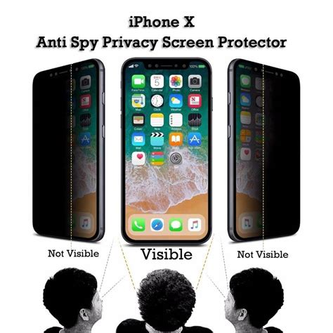 iphone  xs privacy anti spy  screen protector