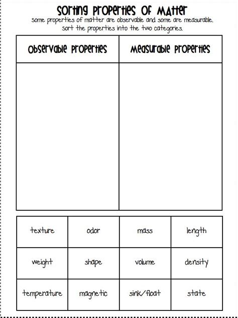Physical Changes Of Matter Worksheets by Physical Properties Of Matter Worksheet 2nd Grade