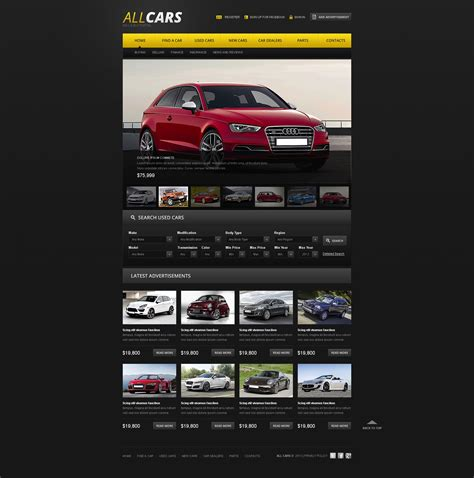 auto dealer template car dealer website template 42186