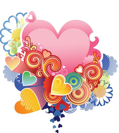 imagenes en png corazones multicolores png