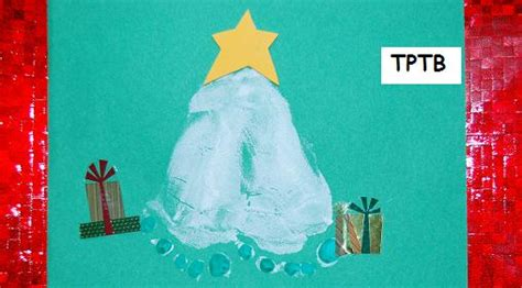 footprint christmas tree the preschool toolbox blog