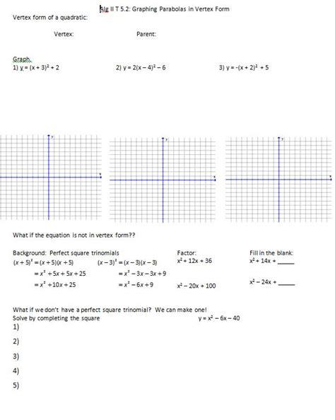 Graphing Quadratics In Standard Form Worksheet by Graphing Quadratics In Standard Form Worksheet Worksheets
