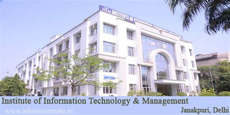 Institute Of Technology Mba Cost by Iitm Delhi Indraprastha Institute Technology And Management