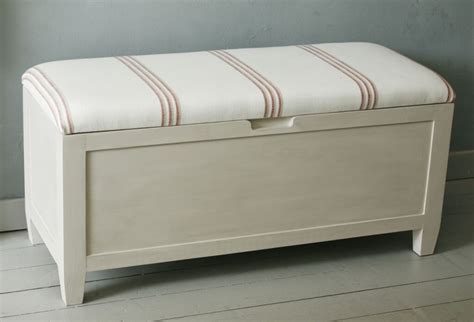mesmerizing white painted wooden ottoman storage bench