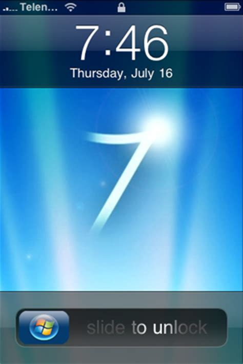 iphone themes windows 7 windows 7 theme for iphone redmond pie