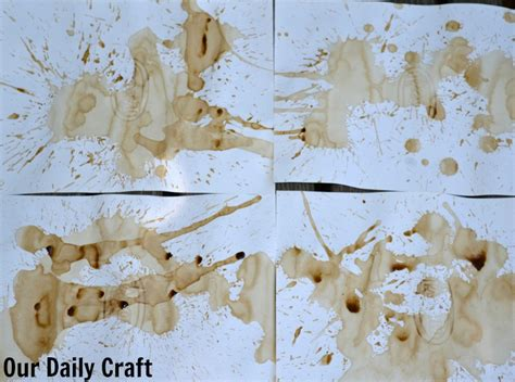 How To Make Coffee Stained Paper - coffee stained paper craft challenge day 135 our