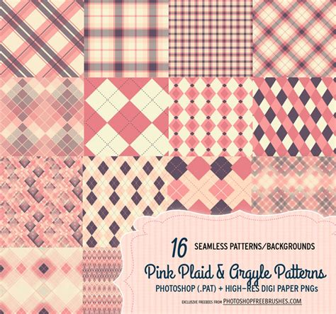 photoshop pattern plaid 16 pink plaid and argyle patterns backgrounds photoshop