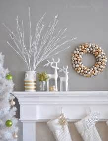 Big Snowflakes Decorations 11 Creative Christmas Mantels You Need To Copy Reindeer