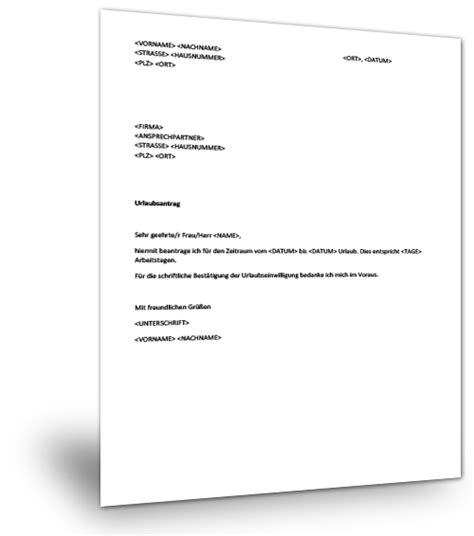 Musterbrief Angebot Immobilie Musterbrief Urlaub Musterix