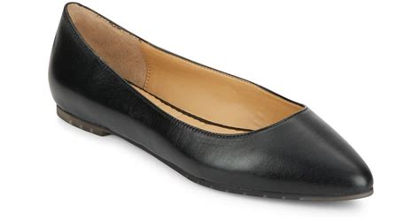 pointy flats shoes me pointy toe leather flats in black lyst
