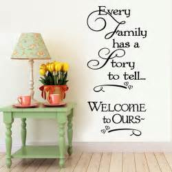 Decorative Decals For Home Welcome To Our Home Family Quote Wall Decals Decorative