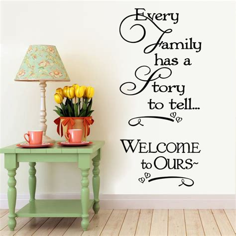 home decor wall decals welcome to our home family quote wall decals decorative removable vinyl wall stickers home