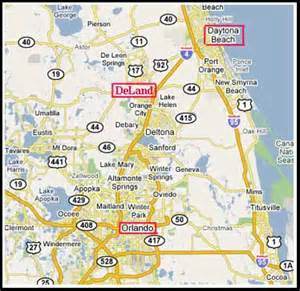 map deland florida map to lakes of deland
