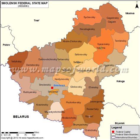 russia map smolensk smolensk map oblast of smolensk russia