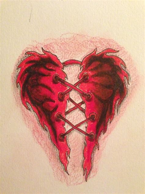 broken heart tattoo by gcwshadow on deviantart
